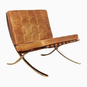 Sedia MR 90 Barcelona di Ludwig Mies Van Der Rohe per Knoll Inc. / Knoll International, anni '50
