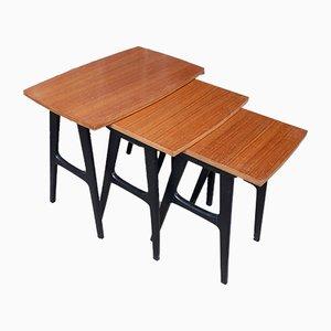 Scandinavian Nesting Tables, Set of 3