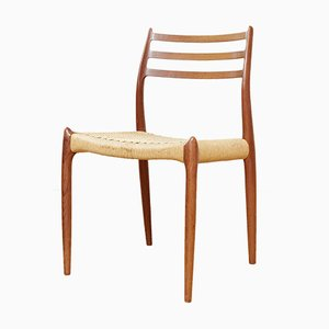 No. 78 Teak Dining Chairs by Niels Otto (N.O.) Møller for J.L. Møllers, Set of 2