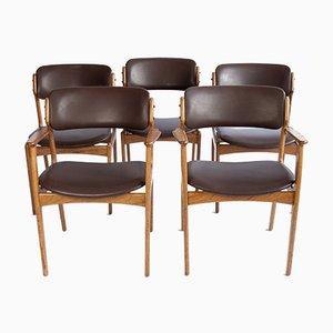 Dänische Vintage Stühle von Erik Buch, 1960er, 5er Set