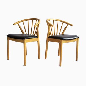 Vintage Chairs from J.L. Møllers, Denmark, 1980s, Set of 2
