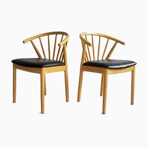 Vintage Stühle von JL Møllers, Dänemark, 1980er, 2er Set