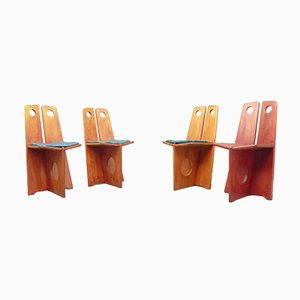 Swedish Pine Dining Chairs by Gilbert Marklund for Furusnickarn Ab, 1970s, Set of 4