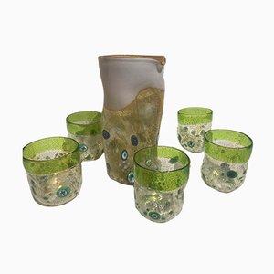 Set da tavola vintage in vetro di Murano di Maryana Iskra, Italia, set di 7