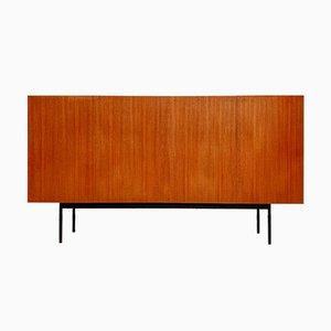 Credenza alta vintage minimalista in teak di Dieter Waeckerlin per Behr, anni '50