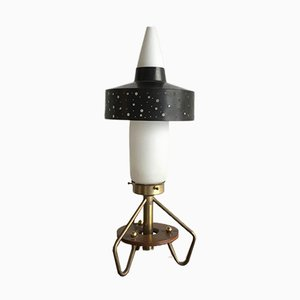 Space Age Lamp in Glass and Brass, 1960s