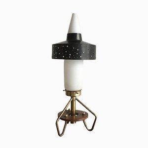 Space Age Lampe aus Glas und Messing, 1960er