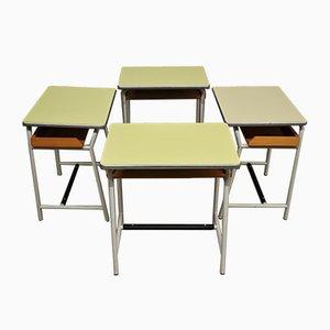 Kinder-Schulbänke, 1960er, 4er Set