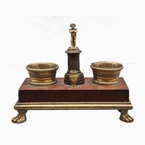 Schreibtischset aus Ormolu & Mahagoni, 19. Jh
