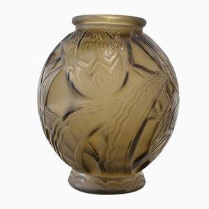 Art Deco Glass Vase, France, 1930s