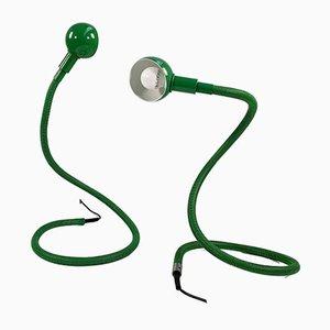 Grüne Heby Tischlampe von Isao Hosoe für Valenti Luce, 1970er