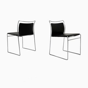 Tulu Dining Chairs in Leather by Kazuhide Takahama for Gavina, 1960s, Set of 6