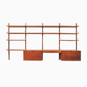 Royal Teak Wall Unit System by Poul Cadovius for Cado, 1950s