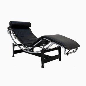 Schwarzer LC4 Sessel von Le Corbusier für Cassina, 1970er