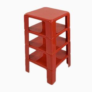 Set of Coral Quattro Gatti Side Tables by Mario Bellini for C&B Italia, 1960s