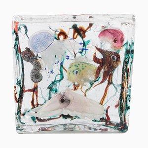 Acuario de cristal de Murano muy grande de Alfredo Barbini para Cenedese, años 60
