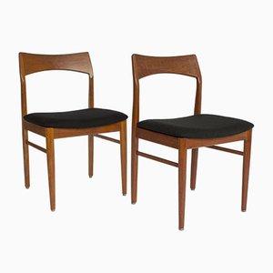 Danish Teak Chairs by Henning Kjaernulf, 1960s, Set of 4