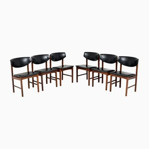 Vintage Danish Dining Chairs, Set of 6