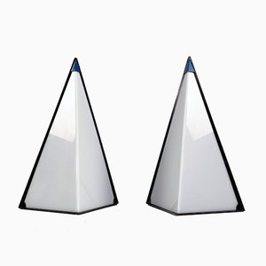 Postmodern Pyramid Lamps by Zonca Italy, 1980s, Set of 2