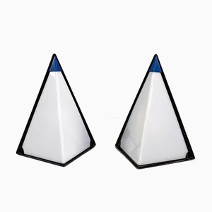 Postmoderne Pyramid Lampen von Zonca Italy, 1980er, 2er Set