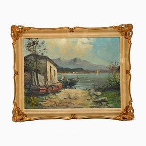 Antique Italian Landscape, Oil Painting, Tardini