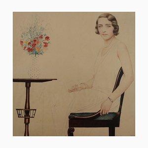 Portrait of Miss Lise Brissaud, Bernard Boutet De Monvel, 1928