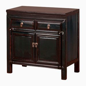 Small Blue Lacquer Storage Cabinet