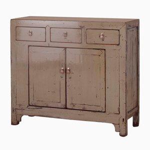Gray Lacquer Storage Cabinet