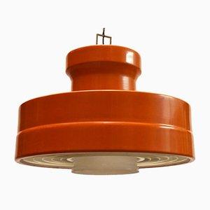 Deckenlampe aus Metall & Glas von Stilnovo, 1960er