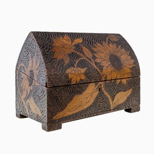French Wooden Sunflowers Chest