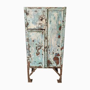 Turquoise Steel Factory Cabinet