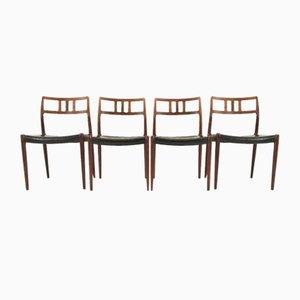 Modell 79 Esszimmerstühle aus Palisander von Niels Otto Møller, 4er Set