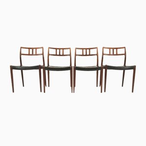 Rosewood Model 79 Dining Chairs by Niels Otto Møller, Set of 4