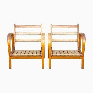 Armchairs by Kropacek & Kozelka from Interier Praha, 1940s, Set of 2