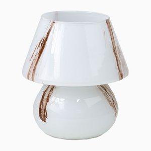 Lampada da tavolo a fungo in vetro di Murano di Paolo Venini