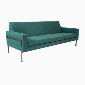Minimalistisches 3-Sitzer Sofa mit Metallgestell, 1960er