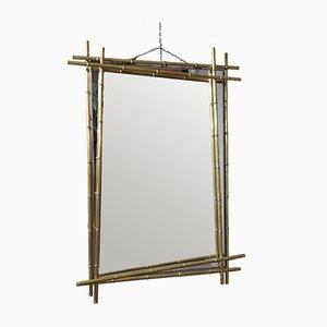 Mid-Century Italian Brass Mirror, 1970
