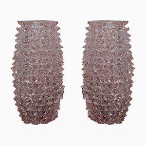 Vase Mid-Century Rond Fait Main en Verre Murano, Italie, 1970