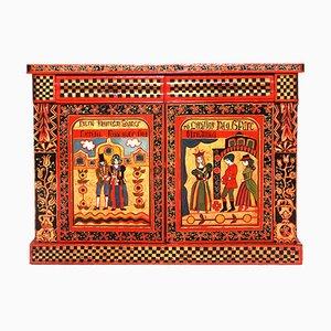 Antique Folk Art Painted Cabinet