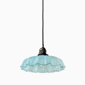 Early 20th Century Italian Blue Glass Pendant Lamp, 1900s