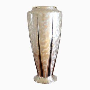 Art Deco Silver-Plated Metal Floor Vase from WMF Ikora, 1930s