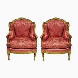 Louis XVI Bergere Sessel, 2er Set