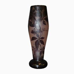 Vase Art Nouveau avec Décoration de Vigne par Gauthier