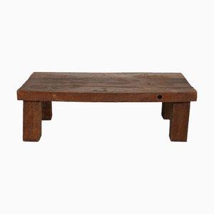 Mid-Century Brutalist Oak Sleeper Coffee Table