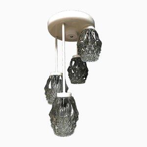 Hängelampe oder Kronleuchter aus Metall und Glas, 1960er