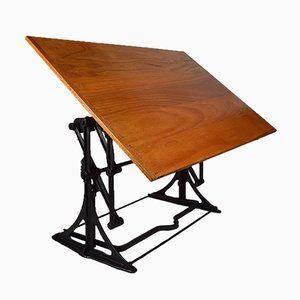 Industrial Architect's Adjustable Drafting Table