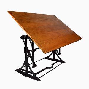 Table de Dessin Ajustable d'Architecte Industrielle