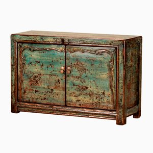 Distressed Green Lacquer Sideboard