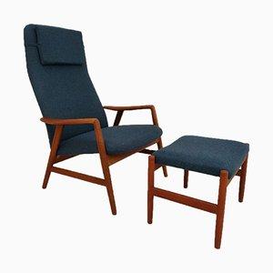 Dänische Sessel aus Wolle & Teak von Alf Svensson für Fritz Hansen, 1970er, 2er Set