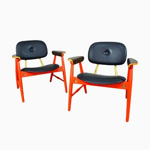 Armchairs by Marco Zanuso for Poltronova, Italy, 1970s, Set of 2